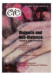 texts         THE EYE - SPICMACAY - OCT-DEC 1997 - VIOLENCE AND NON VIOLENCE                                    by     SPICMACAY / EYE TEAM