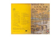 texts         WHAT TO LOOK FOR IN WINTER - LADYBIRD BOOK                                    by     LADYBIRD SERIES