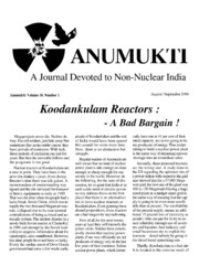 texts         ANUMUKTI - A JOURNAL DEVOTED TO NON-NUCLEAR INDIA - VOLUME-10                                    by     DR. SURENDRA GADEKAR