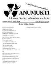 texts         ANUMUKTI - A JOURNAL DEVOTED TO NON-NUCLEAR INDIA - VOLUME-11                                    by     DR. SURENDRA GADEKAR