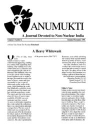 texts         ANUMUKTI - A JOURNAL DEVOTED TO NON-NUCLEAR INDIA - VOLUME-5                                    by     DR. SURENDRA GADEKAR