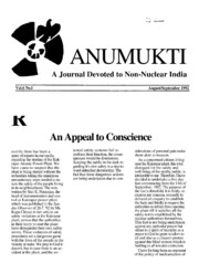 texts         ANUMUKTI - A JOURNAL DEVOTED TO NON-NUCLEAR INDIA - VOLUME-6                                    by     DR. SURENDRA GADEKAR