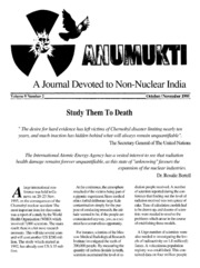 texts         ANUMUKTI - A JOURNAL DEVOTED TO NON-NUCLEAR INDIA - VOLUME-9                                    by     DR. SURENDRA GADEKAR