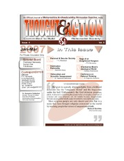 texts                THOUGHT AND ACTION - RATIONALIST MAGAZINE - 2007 ALL                                    by     PRABHAKAR NANAVATI