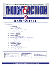 texts         THOUGHT AND ACTION - RATIONALIST MAGAZINE - 2010 ALL                                    by     PRABHAKAR NANAVATI