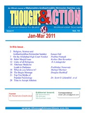 texts         THOUGHT AND ACTION - RATIONALIST MAGAZINE - 2011 ALL                                    by     PRABHAKAR NANAVATI