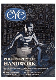 texts         THE EYE - SPICMACAY - JAN-FEB 1993 - PHILOSOPHY OF HANDWORK                                    by     SPICMACAY / EYE TEAM