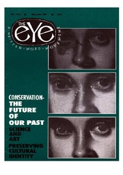 texts                THE EYE - SPICMACAY - MAY-JUNE 1992 - CONSERVATION - FUTURE OF OUR PAST                                    by     SPICMACAY / EYE TEAM