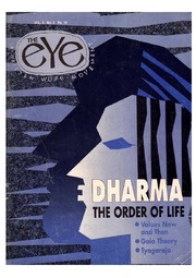 texts         THE EYE - SPICMACAY - VOL 2, NO 5 - DHARMA THE ORDER OF LIFE                                    by     SPICMACAY / EYE TEAM