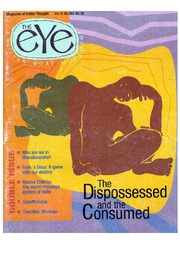 texts         THE EYE - SPICMACAY - VOL 4, NO 1-2 - THE DISPOSSESSED AND THE CONSUMED                                    by     SPICMACAY / EYE TEAM