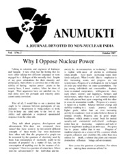 texts                ANUMUKTI - A JOURNAL DEVOTED TO NON-NUCLEAR INDIA - ALL ISSUES                                    by     DR. SURENDRA GADEKAR