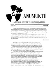 texts         ANUMUKTI - A JOURNAL DEVOTED TO NON-NUCLEAR INDIA - VOLUME-2                                    by     DR. SURENDRA GADEKAR